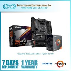 * Gigabyte GA-B550-Aorus-Elite + Ryzen 3 3100 CPU