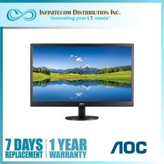 19.5 AOC E2070SWNE/71 60Hz  Wall mountable Panel TFT VGA port only HD Ready Resolution 1366 x768 WLED Monitor